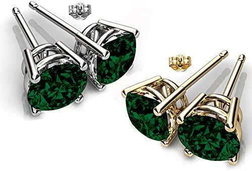 Glimmering Genuine Swarovski Elements Crystals Designer Stud Earrings for Women and Girls