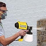 Home Paint Sprayer HVLP Sprayer Electric Spray Gun with Three Spray Patterns Three Copper Nozzle Sizes 900ml Detachable Container Volume Regulator 6.5ft Power Line