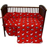 College Covers Georgia Bulldogs 5 Piece Baby Crib Set