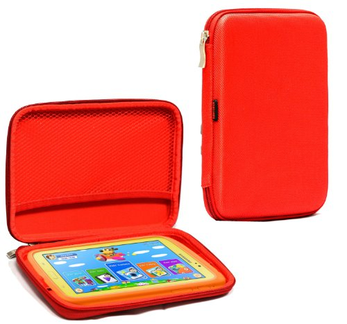Navitech Red Hard Protective Case Cover For The Kurio 7  Personal Tablet  As Seen In Toysrus