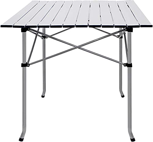 Deanurs Folding Tables Camping Roll Up Portable Iron Legs Frame Compact Aluminum Table for Outdoor Picnic Hiking BBQ