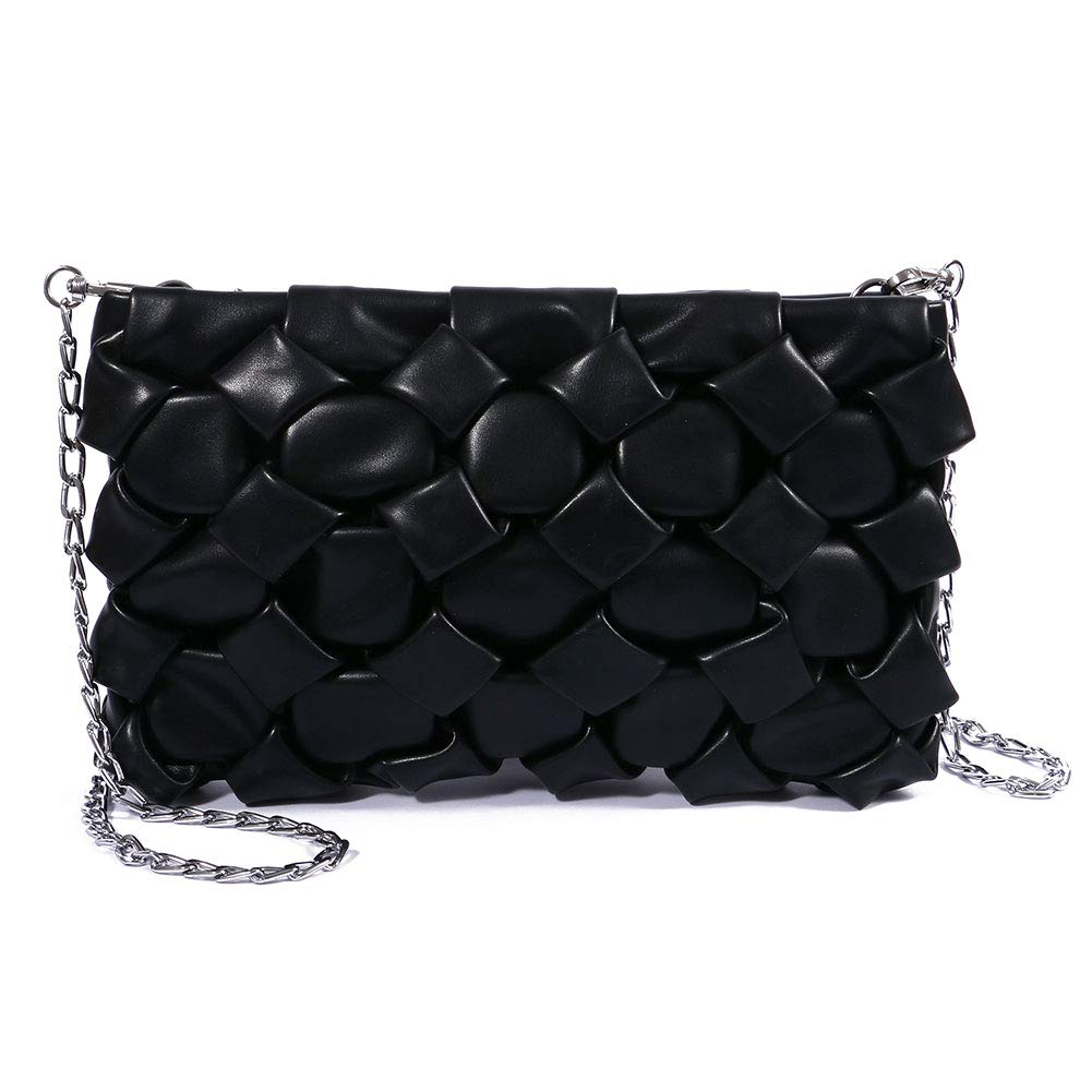 TENXITER Soft Leather Wristlet Clutch Fashion Small Crossbody Bag Chain Strap Cell Phone Purse for Women