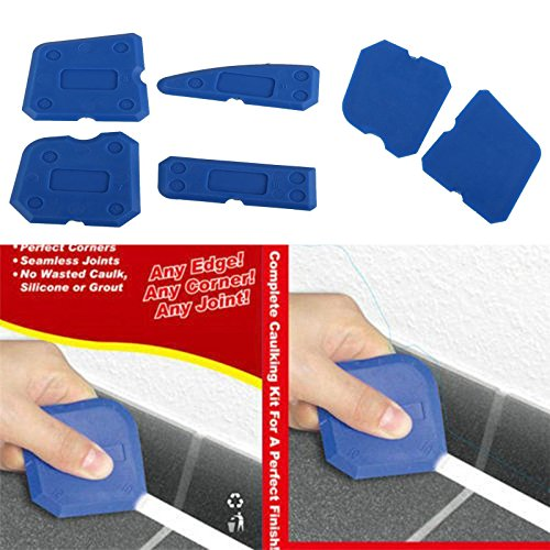 Aranher(TM) 4Pcs Joint Sealant Silicone Grout Caulk Tool Set Remover Scraper Applicator Kits ()