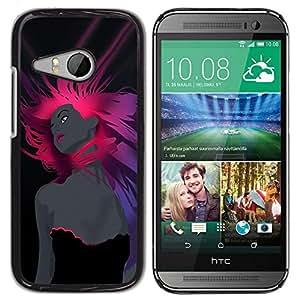 Be Good Phone Accessory // Dura Cáscara cubierta Protectora Caso Carcasa Funda de Protección para HTC ONE MINI 2 / M8 MINI // Pink Woman