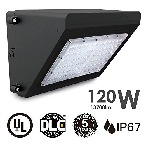 Docheer 120W LED Wall Pack Light 13700 Lumens (400W Eq.), 5000K Daylight White,Outdoor Wall and Area Lighting Outdoor Street Area Security Lights by Docheer