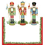 Place Card for Christmas Parties No Placecard Holders Needed 8 Placecards Tented & Die Cut Nutcracker