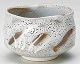 Grey Shino 4.7inch Set of 5 Matcha-Bowls Grey Ceramic Made in Japan