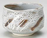 Grey Shino 4.7inch Matcha-Bowl Grey Ceramic Made in Japan