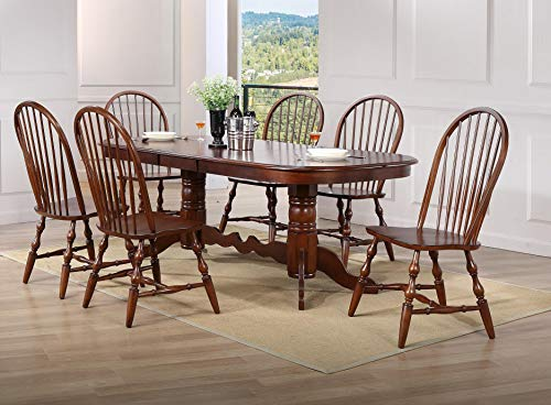 Sunset Trading DLU-ADW4296-C30-CT7PC Andrews Dining Set, Large, Three Sizes, Distressed Chestnut ()