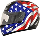 AFX 01019668 FX-95 Flag Helmet (Black, Medium)