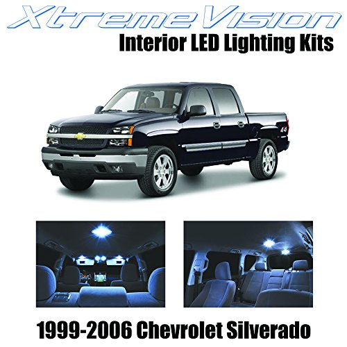XtremeVision Chevy Silverado 1999-2006 (13 Pieces) Cool White Premium Interior LED Kit Package + Installation Tool