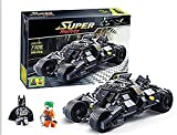 Bat- ManToy building bricks 325 piece set batmobile heroes set Decol