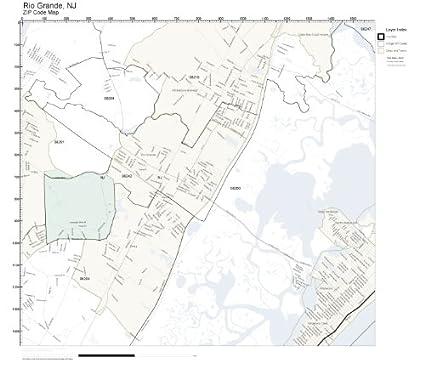 Amazon.com: ZIP Code Wall Map of Rio Grande, NJ ZIP Code Map ...