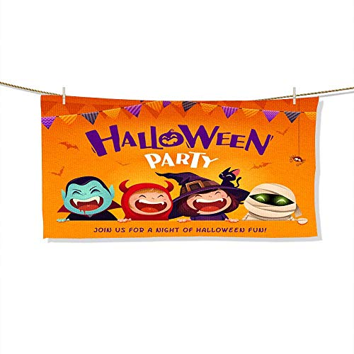 FootMarkhome Beach Towel Halloween Party Group of Kids