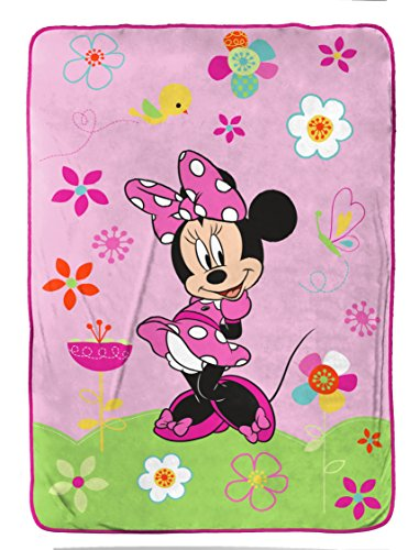 Disney Minnie Mouse Bowtique 'Garden Party' Fleece 62'' x 90'' Twin Blanket by Disney