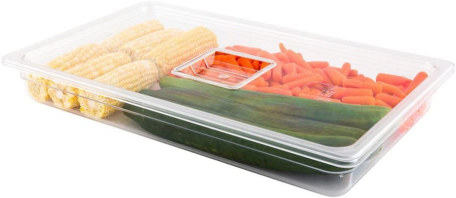 Cold Food Pan Lid - Plastic Cold Food Storage Container Lid - Full Size - Clear - 1ct Box - Met Lux - Restaurantware