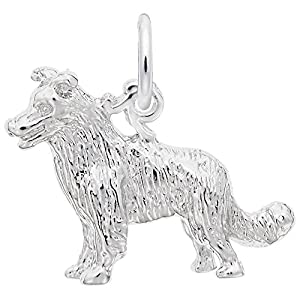 Border Collie Dog Charm, Charms for Bracelets and Necklaces 1
