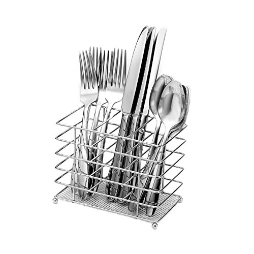 (Oneida Eve 12-Piece Flatware Set with Countertop Caddy, Service for 4,Silver)