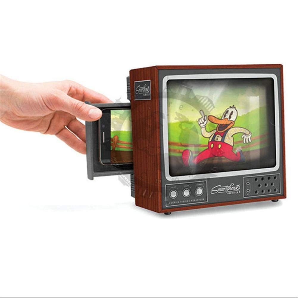 RORORO Amplificador Scren de telé fono, diseñ o Cerrado Completo Amplificador de TV Protecció n para los Ojos Bricolaje Cartulina Retro TV mó vil Lente HD Mejorada