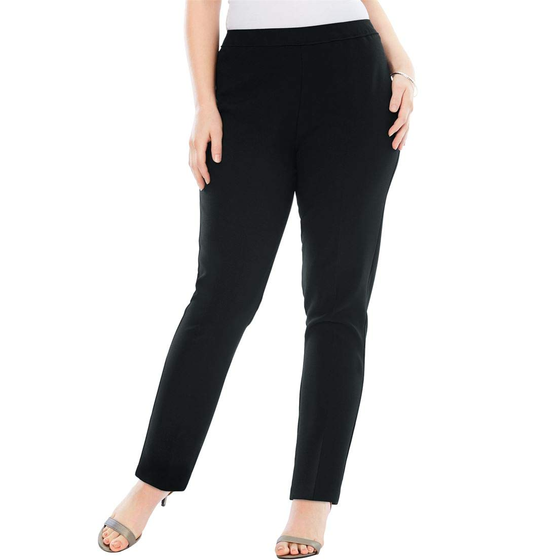 515d7e45312 Roamans Women s Plus Size Bend Over Classic Pant at Amazon Women s Clothing  store