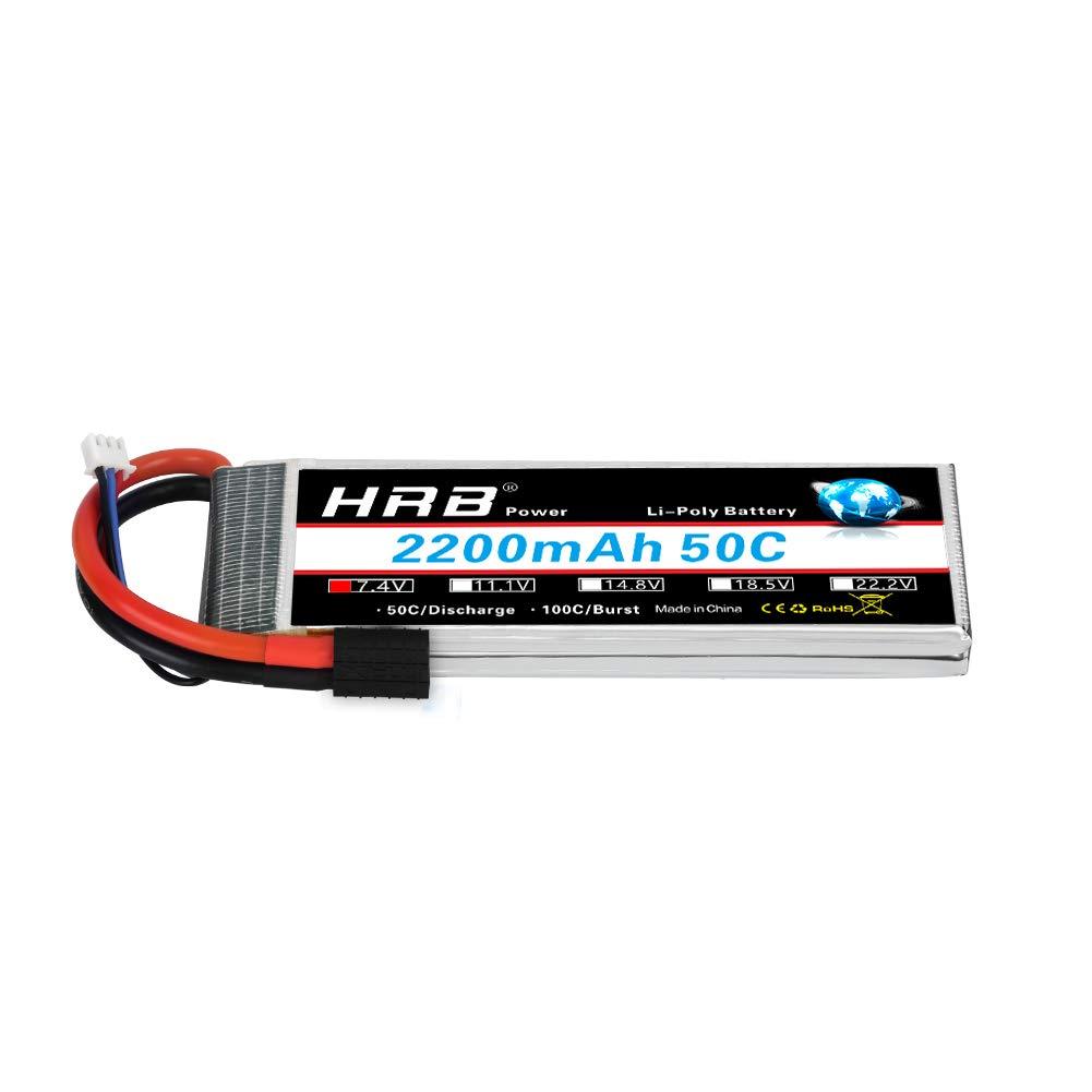 HRB 2S 7.4V 2200mAh リポバッテリー 50C 100C TRX プラグ Traxxas 1:16 スラッシュトラック用 B07NRM7HFZ
