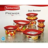 Rubbermaid 14-Piece New Premier Food Storage Container Set BPA Free