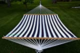 Deluxe Quilted Blue and White Hammock Extra Soft Polyester
