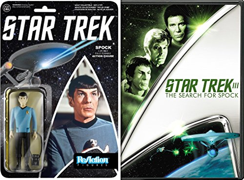 Price comparison product image Star Trek The Search for Spock DVD + Funko Reaction: Star Trek - Spock Action Figure Pop Culture Sci-Fi Set