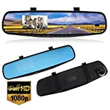 Car DVR Rear View Mirror Video Recroder Rearview Mirror 2.7'' 1080P LCD HD