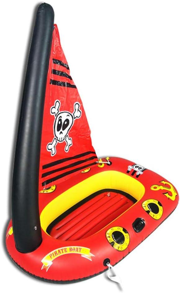 Flotador Inflable Rojo De La Piscina del Barco del Pirata