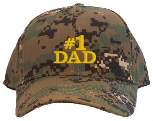 #1 Dad Embroidered Baseball Cap - Digital Camo
