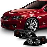 pontiac g6 lighting - [Black Smoke] 2005 2006 2007 2008 2009 2010 Pontiac G6 Left + Right Side Headlights Replacement Set