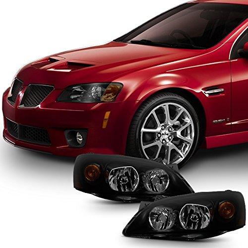 [Black Smoke] 2005 2006 2007 2008 2009 2010 Pontiac G6 Left + Right Side Headlights Replacement Set Pontiac G6 Set