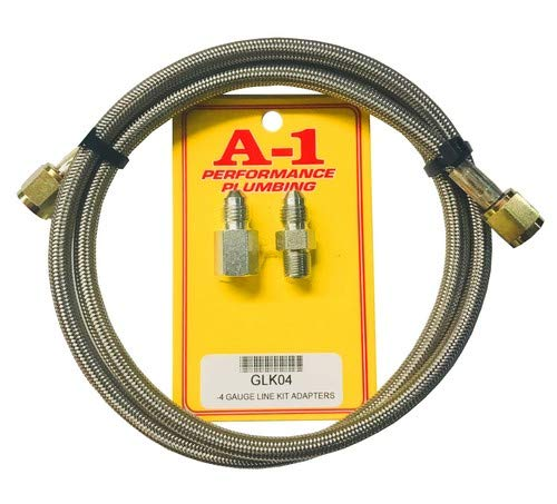A-1 Racing Products Inc. 18'' Oil Pressure Line Kit with 1/8 NPT Fittings by A-1 Racing Products Inc.