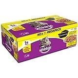 Whiskas 1+ Cat Pouch Casserole Meaty Sel in Jelly (40Pk)