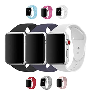 ec829fbf4bf Pulseira Sport Silicone Colorido 42mm para Relógio Apple Watch Series 1