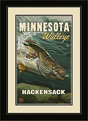 Northwest Art Mall PAL-1735 MFGDM EYE Hackensack Minnesota Walleye Framed Wall Art by Artist Paul A. Lanquist, 13 by - Hackensack Mall