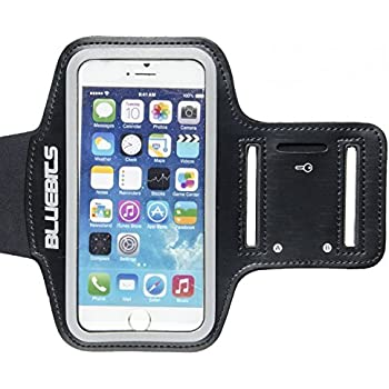Sports Armband, Bluebits Armband for Running, Exercise, Biking Sweatproof Armband with Adjustable Extention for iPhone & Samsung Smart Phones - Life Time Warranty