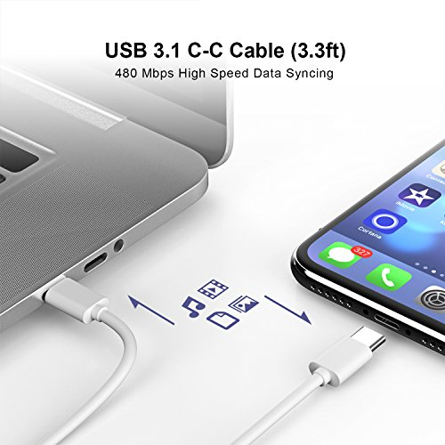 Onforu 61W USB C Power Adapter, UL Listed Power Delivery Wall Charger, Fast Charger for MacBook Pro Thunderbolt Port, iPad Pro, USB Type C Charging Laptop, Smartphone, etc (USB C-C Cable Included) by Onforu (Image #5)