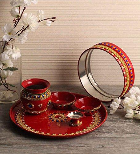 Itiha Karwachauth Karvachauth Indian Traditional Decorative Pooja
