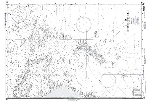 Paradise Cay Publications NGA Chart 622WP: South Pacific Ocean Sheet Iii; 35 X 50.5; WATERPROOF