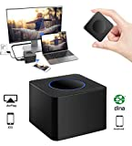 Wifi Display Dongle Wireless TeckEpic HD 1080P AV Dual Display Output 2.4G& 5G Screen Mirroring Adapter HDMI Video Mini Receiver Support Airplay/DLNA/Miracast for iOS,Android,WINDOWS,TV,Projector