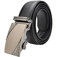 VRLEGEND Dress Belt Casual Genuine Leather Belt Men Business Jean Belt Fashion Automatic Ratchet Buckle