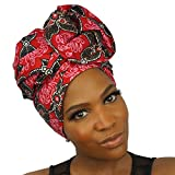 loc life - Urban Turbanista Head Wrap -African Wax Print Headwrap Scarf - Zarah