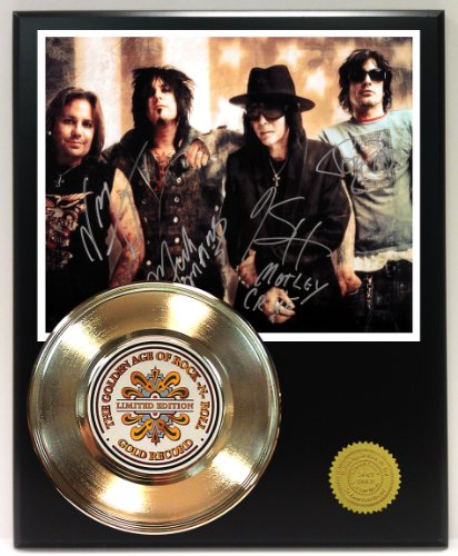 Motley Crue Gold Record Reproduction Signature Series LTD Edition Display from Gold Record Outlet