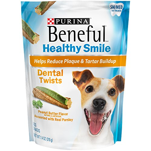 Purina Beneful Healthy Smile Dental Twists Small/Medium Dog Treats (7.4 oz. Pouch (5 Pack)) by Purina Beneful