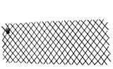 Master Garden Products Willow Expandable Trellis Fence, 36 by 72-Inch