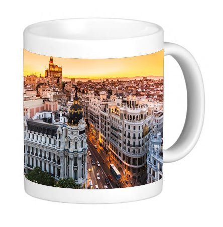 (Popular Madrid Picture 11 ounce Ceramic Coffee Mug Tea Cup)