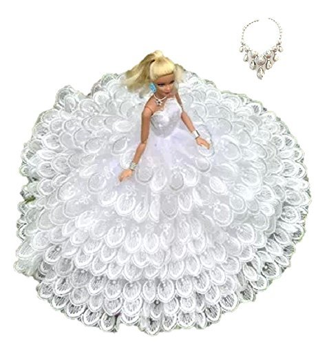 Longing of wedding dress choice of various set Barbie doll for Jenny Blythe momoko, such as 1/6 size Doll (Feather White)
