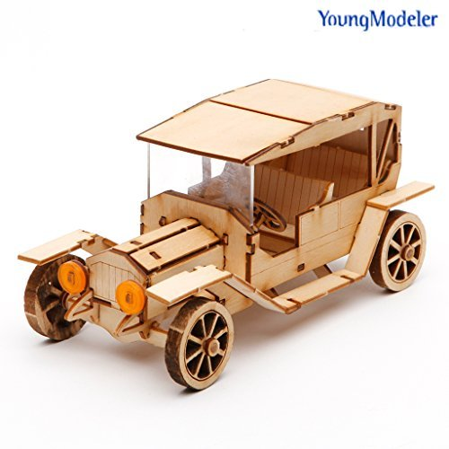 ([YOUNGMODELER] Desktop Wooden Assembly Model Kits (Classic Car No.1))